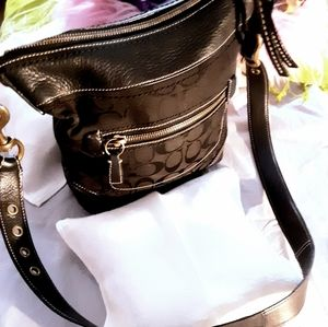 Coach Bags - Coach 10403 Signature Black Jacquard Crossbody bag